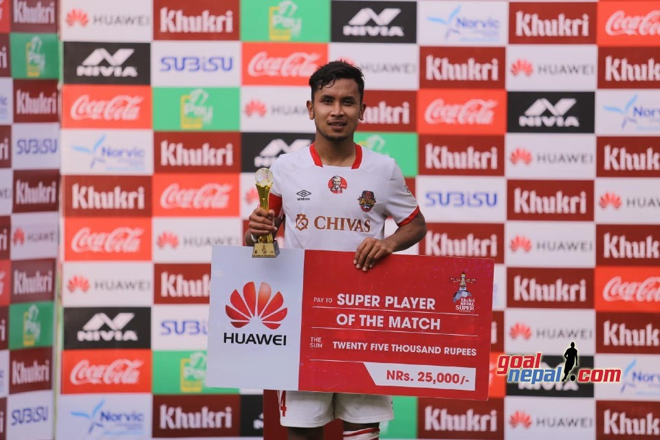LCFC Skipper Anjan Bista Is The Super Player Of The Match