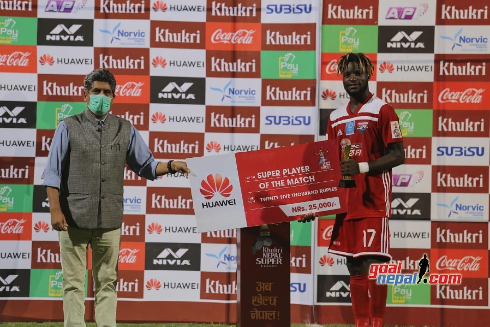 Hat trick Hero Messouke Is The Super Player Of The Match