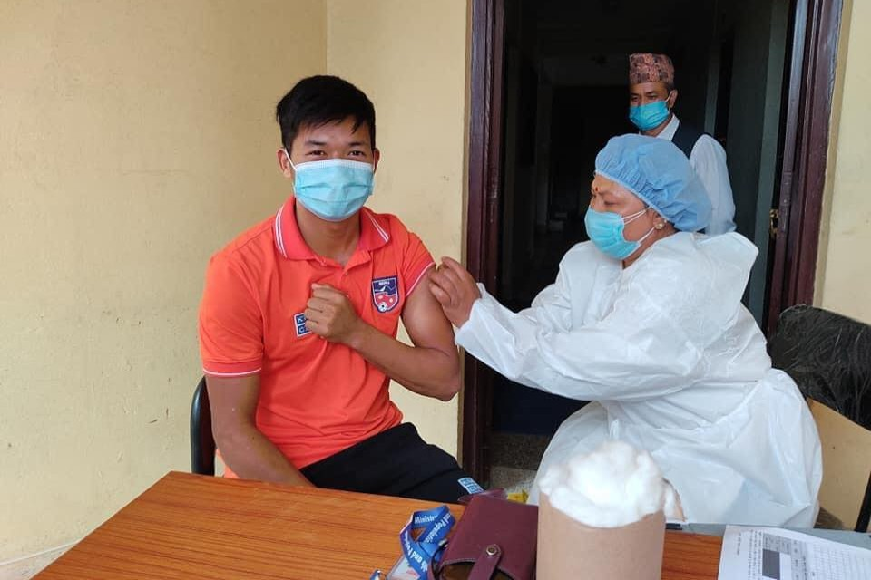 Nepal National Team Players Are Vaccinated - PICTORIAL