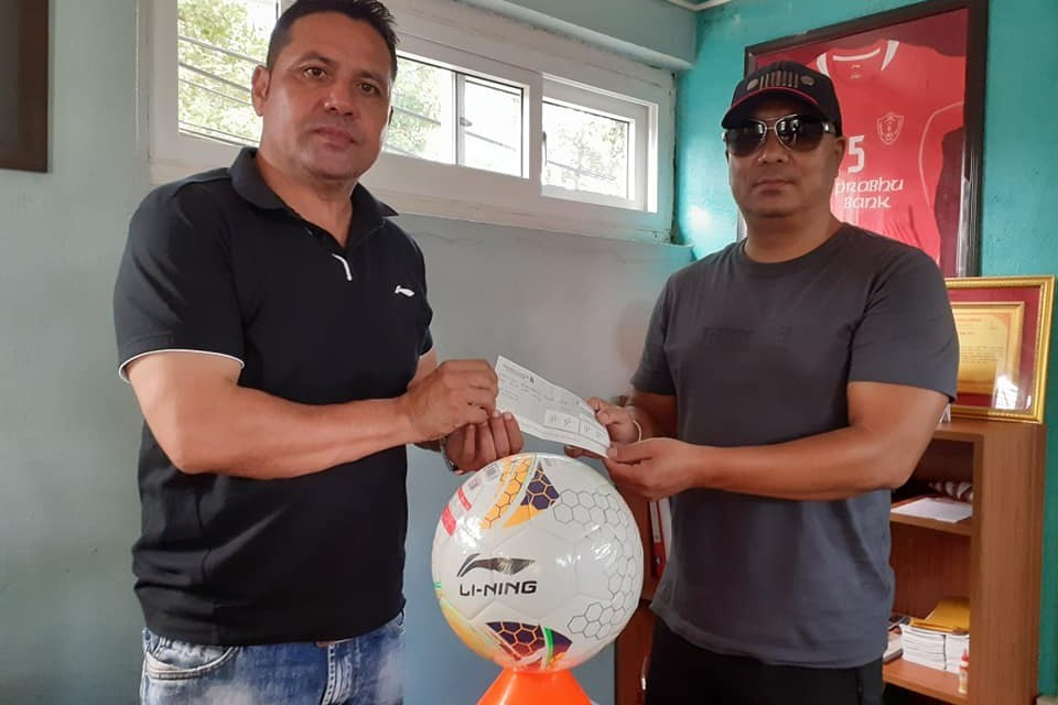 Ex British Army Supports Jawalakhel Youth Club With NRs 4 Lakh