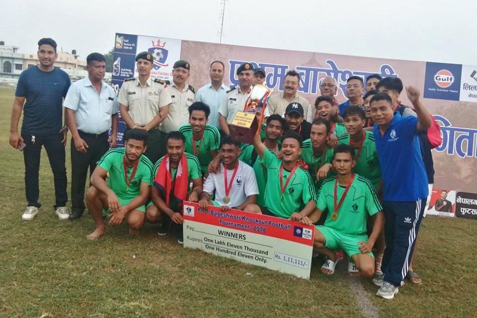 Banke: Royal Nepalgunj FC Wins Title Of 1st Bageshowri Knockout Championship
