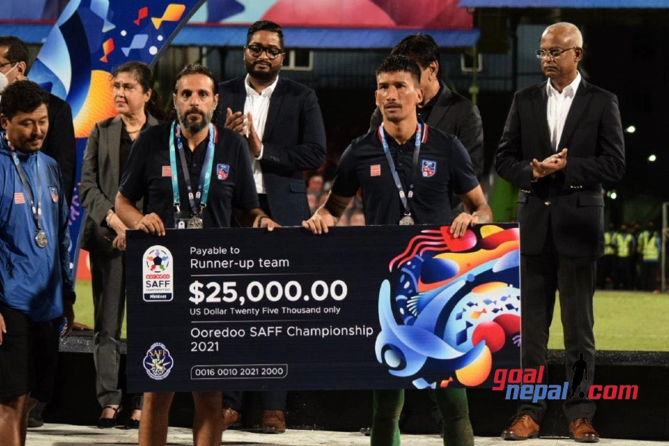 SAFF Championship 2021: Runners Up Nepal Receive USD 25,000