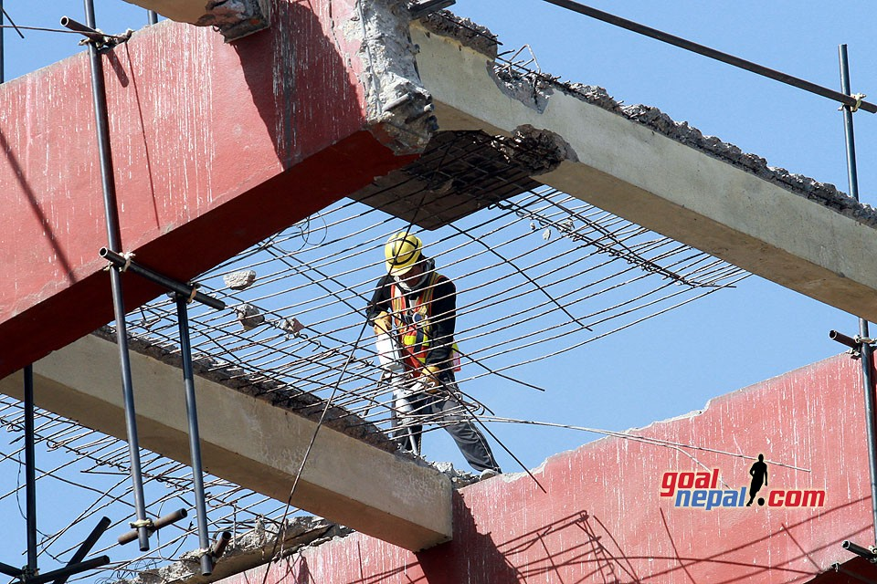 Construction Work At Dasharath Stadium - GN Follow Up
