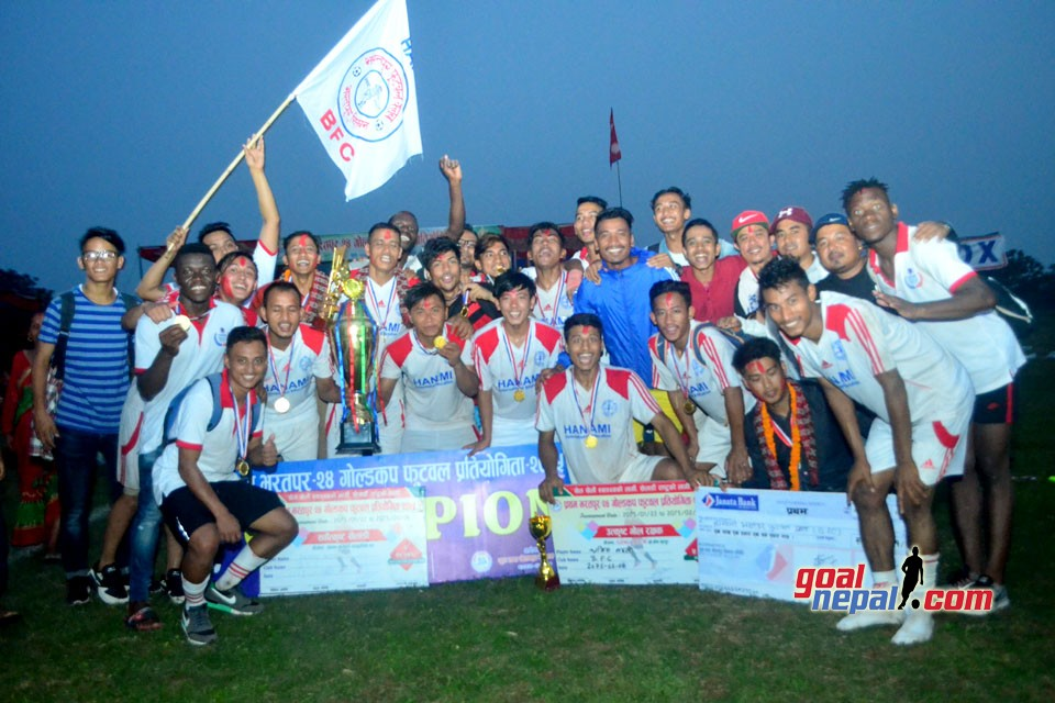 Chitwan: Bharatpur FC Wins Title Of Bharatpur24 Gold Cup
