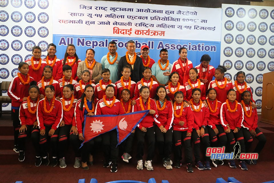 ANFA Bids Nepal U15 Womens  Team Farewell To Bhutan