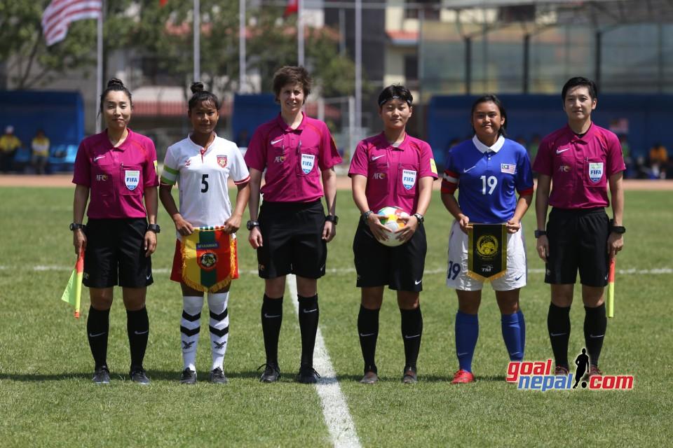 AFC U16 Women's Champion 2019 QFS :  Myanmar vs Malaysia