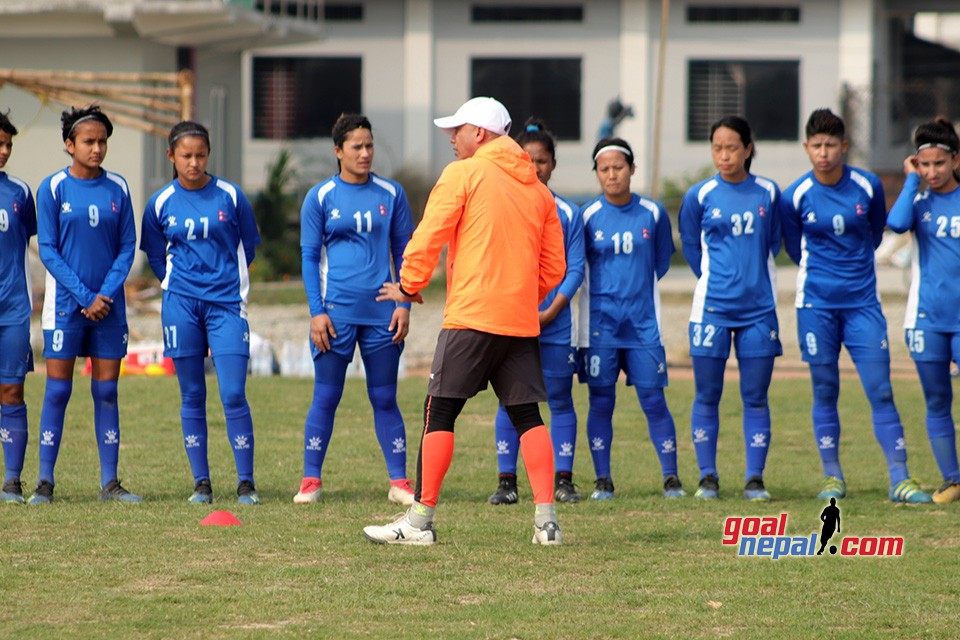 Nepal Women's Team Training Session At Itahari Stadium