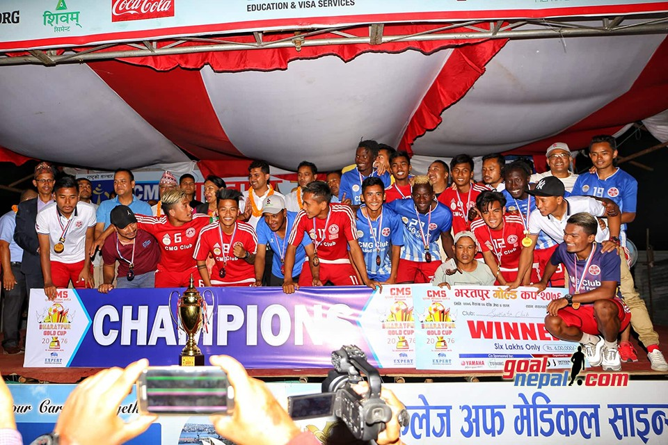 Sankata Club Wins Title Of CMS Bharatpur Gold Cup