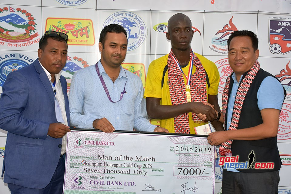 6th Rumpum Udayapur Gold Cup:  Gorkha Boys Rupandehi Enters Final