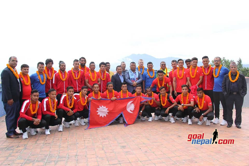 Farewell Program for Nepal National Football Team travelling to Malaysia
