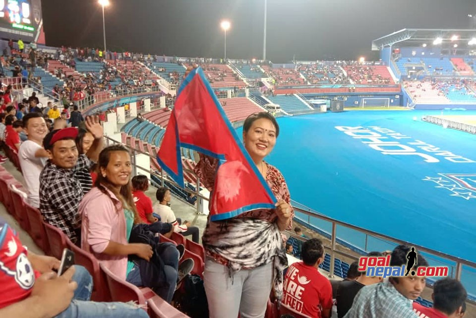 Nepalese Fans Support Team Nepal Against Johor
