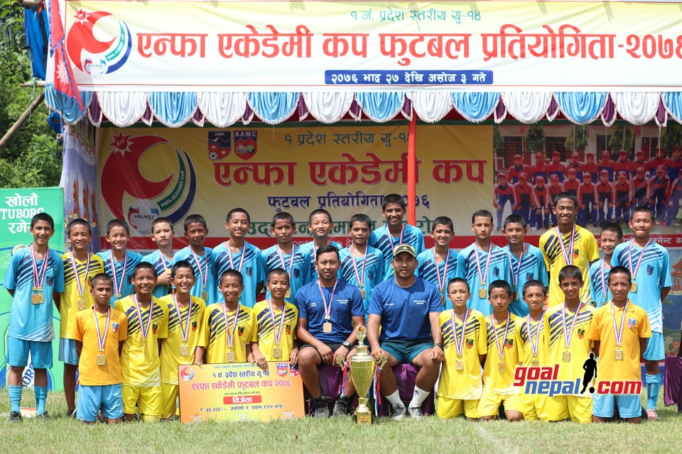 Sunsari: ANFA Academy Dharan Wins Title Of ANFA Academy Cup