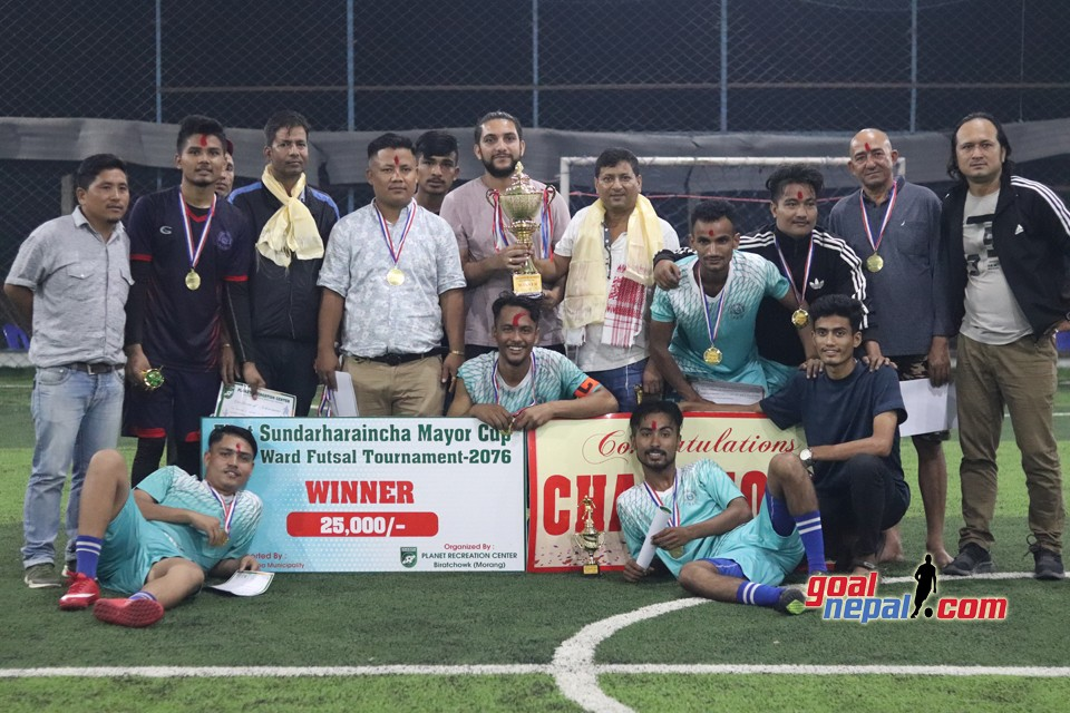 Ward No.10 wins the Title of 1st Sundar Haraicha Mayor Cup Inter Ward Futsal Tournament