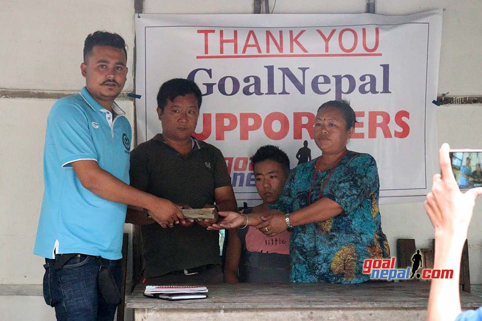 GoalNepal Supporters Hand Over Nrs 4,66,129 To Prajwal Rai