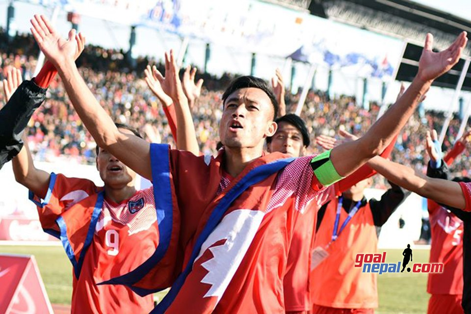 13th SA Games: Nepal Vs Maldives - Viking Clap, Mexican Wave & Thunder NEPAL..NEPAL