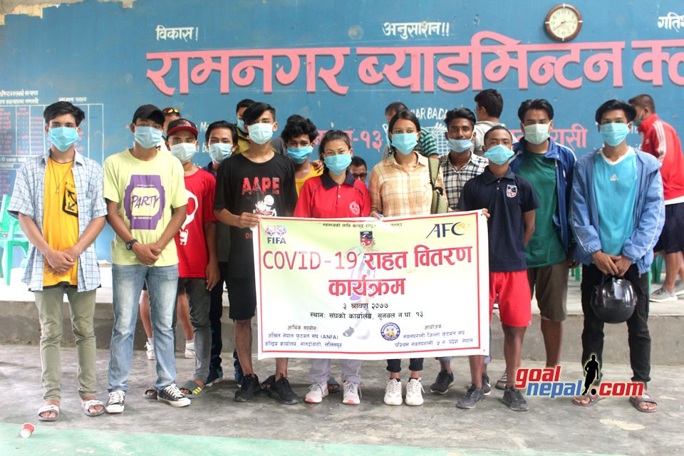 Nawalparasi DFA Provides COVID Relief To Players