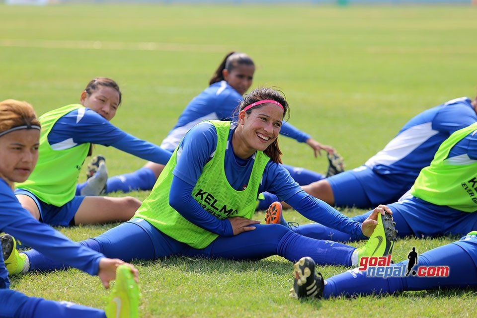 Nepal Women's Team Completes Prep For Bangladesh Match