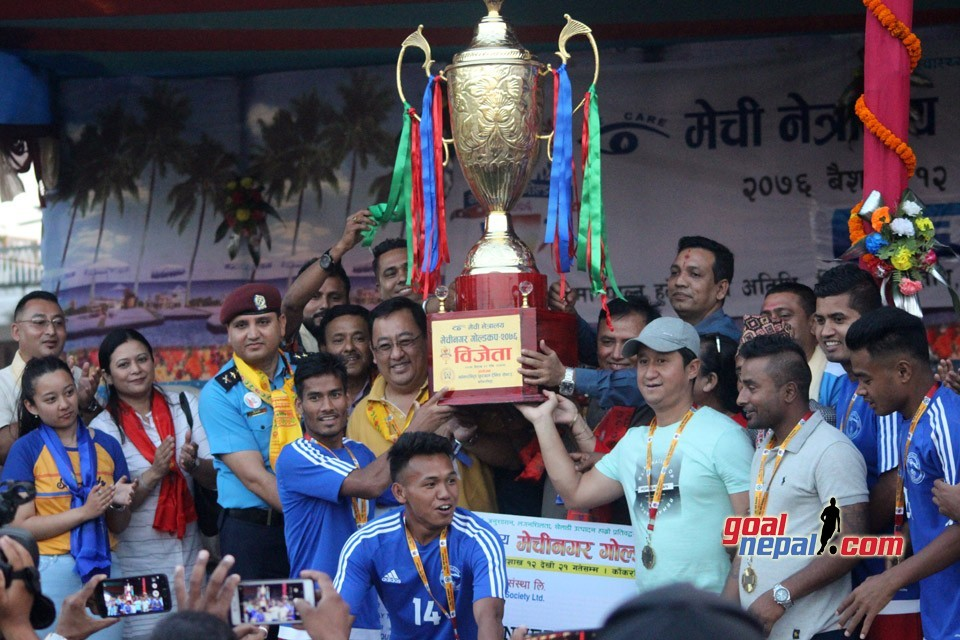 Nepal Police Club Wins Title Of 4th Mechinagar Gold Cup