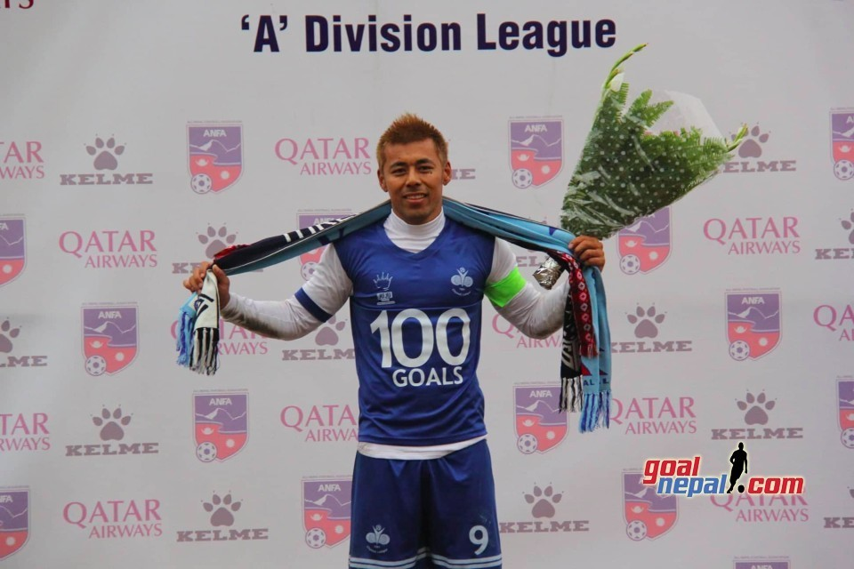 Santosh Sahukhala Becomes First To Score 100th League Goal