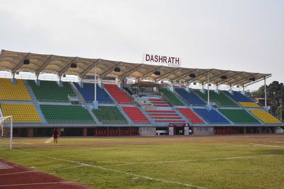 ANFA Starts Maitenance Of Dasharath Stadium Grounds For FIFA WC QFs