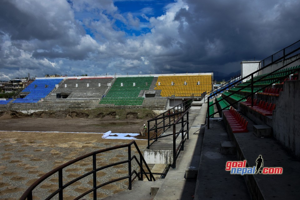 Pitch Construction At Chyasal Stadium - VIDEO