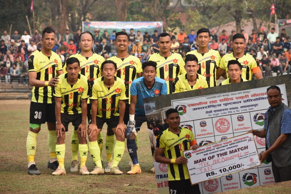 3rd Makwanpur Gold Cup: Tribhuwan Army FC Vs African Roots Association